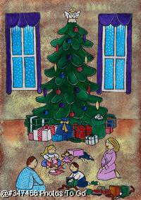 Illustration: Under the Christmas tree